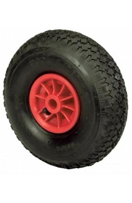 """Ruota pneumatica misura 3.50X8"""" con cerchio in nylon"""