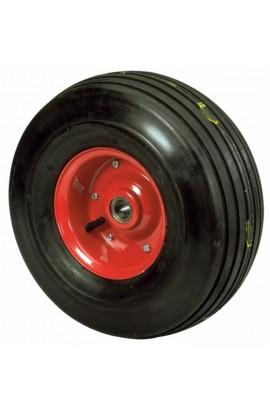 """Ruota pneumatica rigata misure 15X6.00X6"""" con cuscinetti"""
