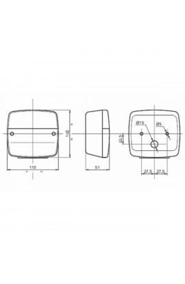 Lotto da 2 pezzi Fanale direzione-posizione dx e sx 108X103 mm
