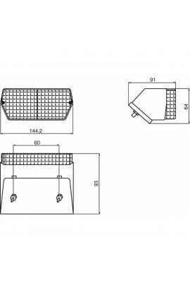 Fanale direzione-posizione 145X65 mm