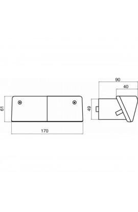 Fanale direzione-posizione 165X60 mm