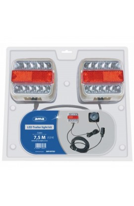 Kit luci magnetico con fanali a led