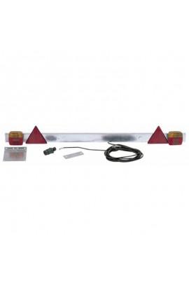 Barra portafanali posteriore per rimorchi a lunghezza regolabile